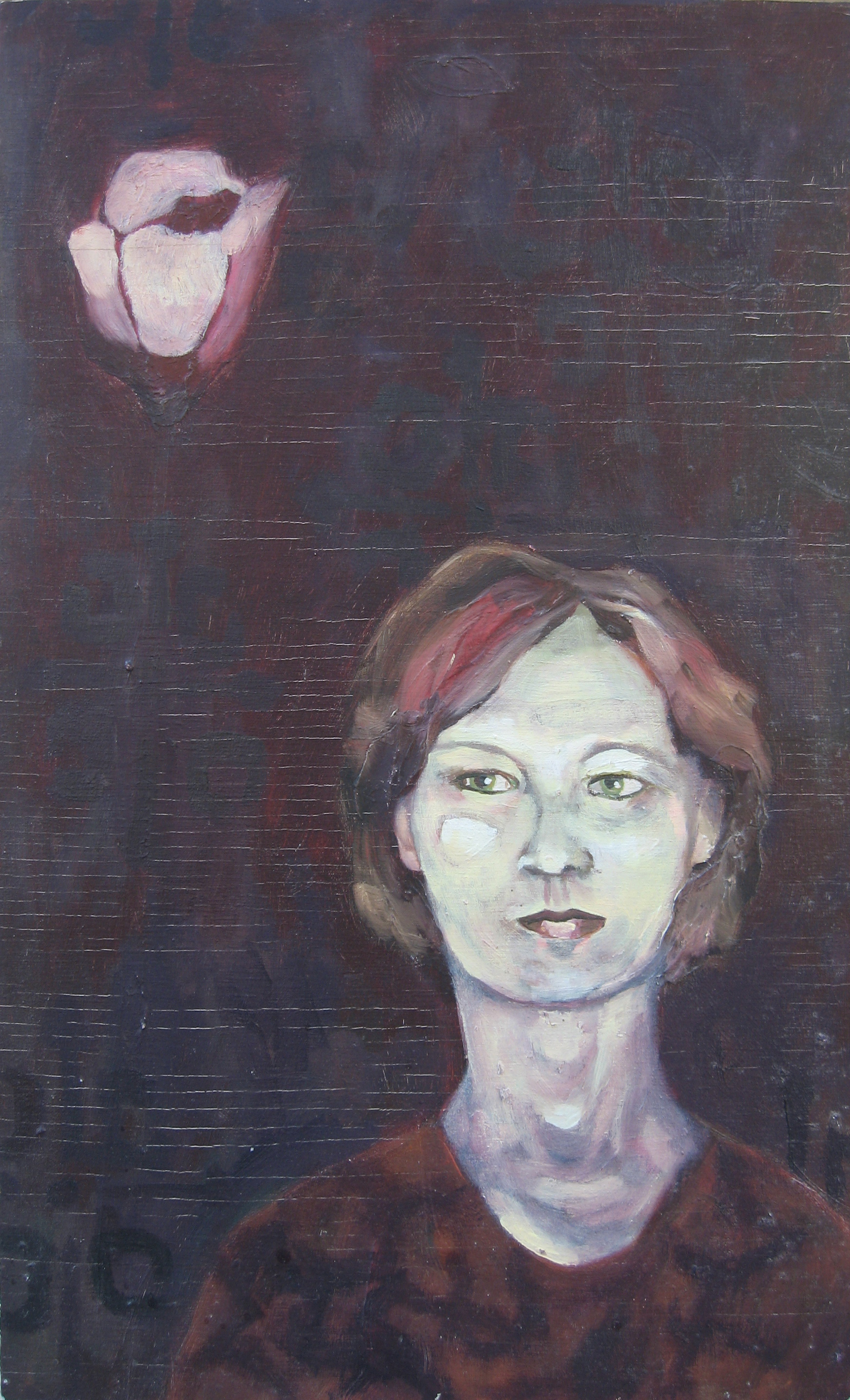 oil painting portrait of artist's mother