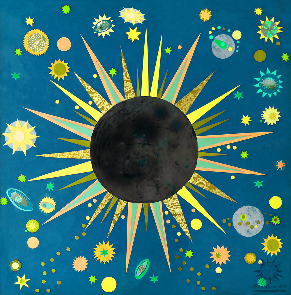 grateful dead and solar eclipse inspired wall art poster print