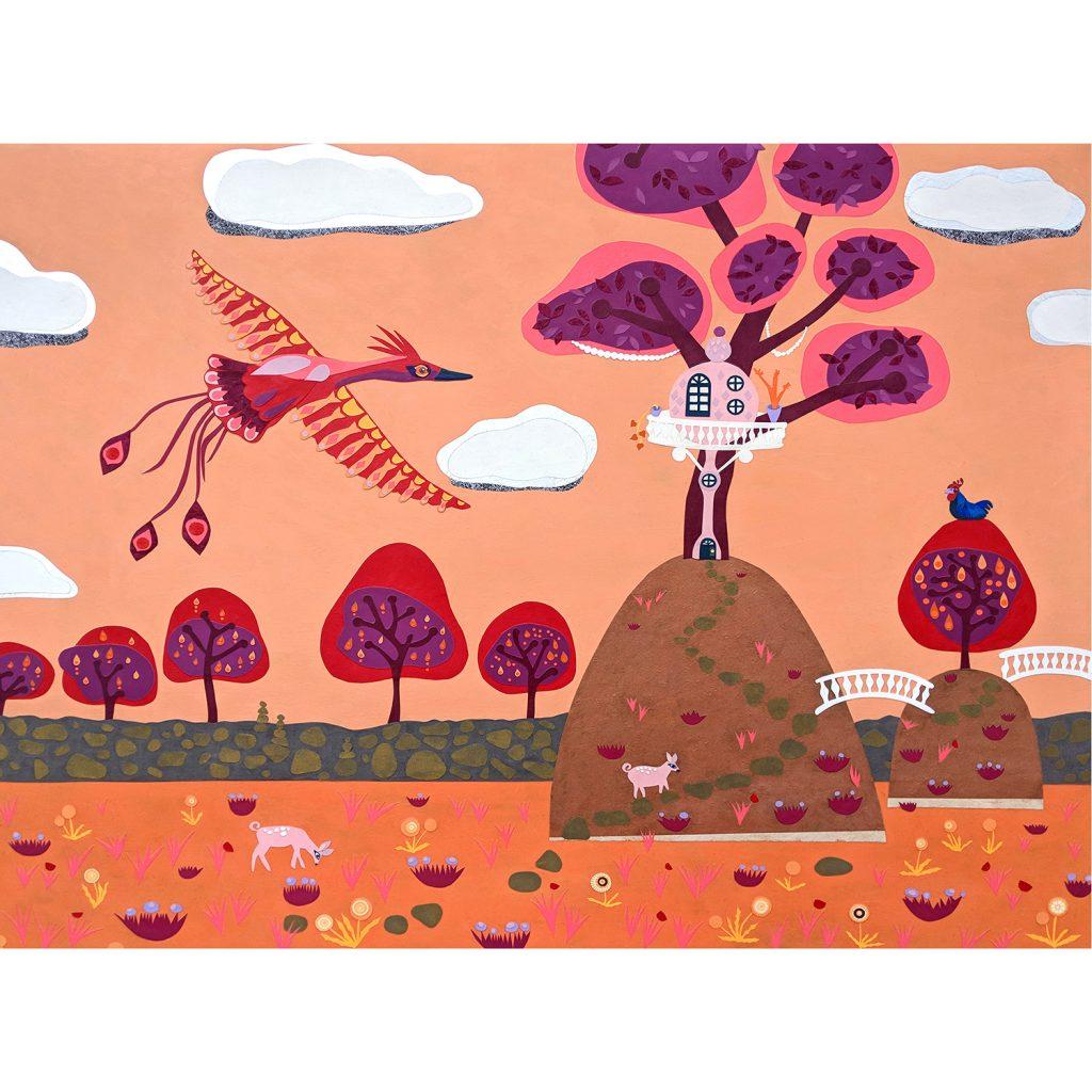 Orange Magical Art Print for Sale