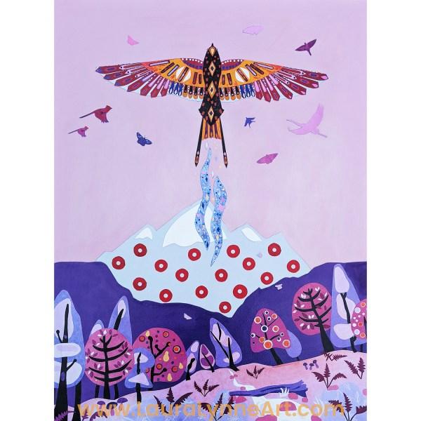 Phoenix and Fishman Donut Wall Art Print - Phish Inspired Art